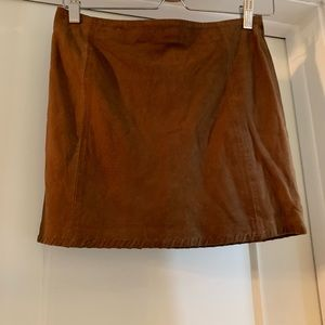 Mango skirt genuine leather